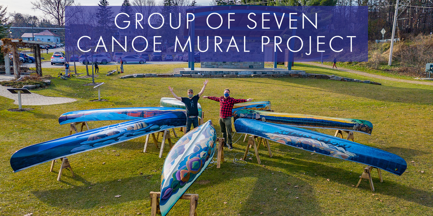 SEEKING DONATIONS OF CANOES FOR THE GROUP OF SEVEN CANOE MURAL PROJECT