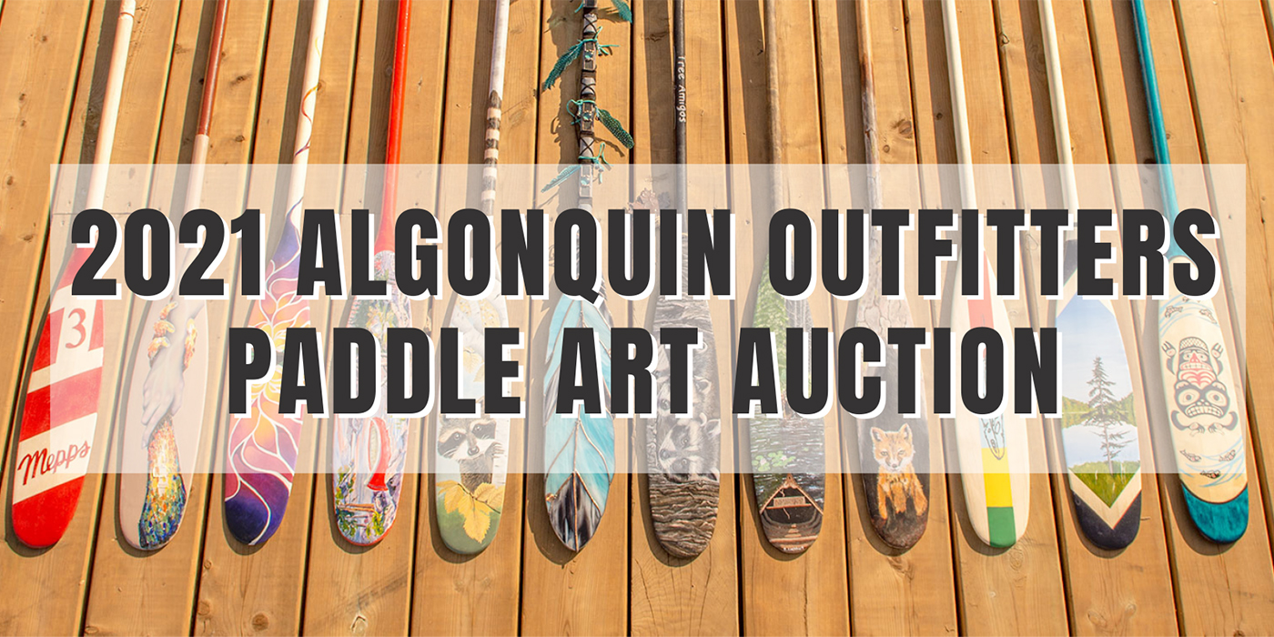 THE ALGONQUIN OUTFITTERS PADDLE ART AUCTION GOES LIVE SEPTEMBER 13TH!